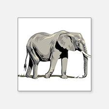 """Elephant Square Sticker 3"""" x 3"""""""
