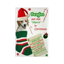 Beagle (2) Rectangle Magnet