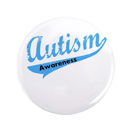 """Team Autism Awareness 3.5"""" Button"""