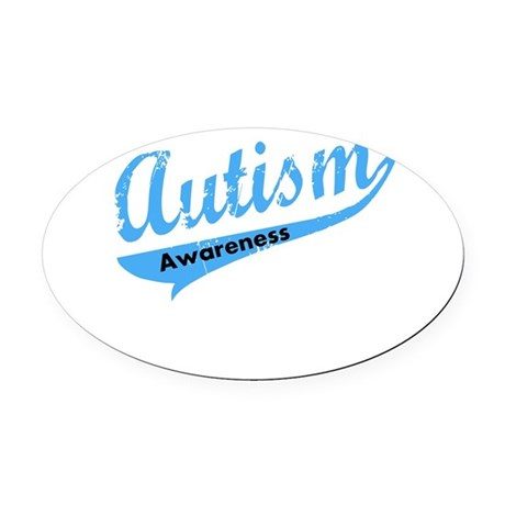 Team Autism Awareness Oval Car Magnet