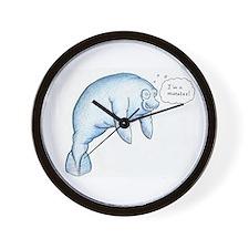 I'm a Manatee (PN) Wall Clock