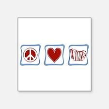 """Accordion Square Sticker 3"""" x 3"""""""