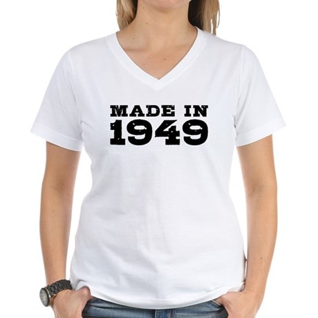 Made In 1949 Women's V-Neck T-Shirt