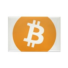 Bitcoin Logo Rectangle Magnet