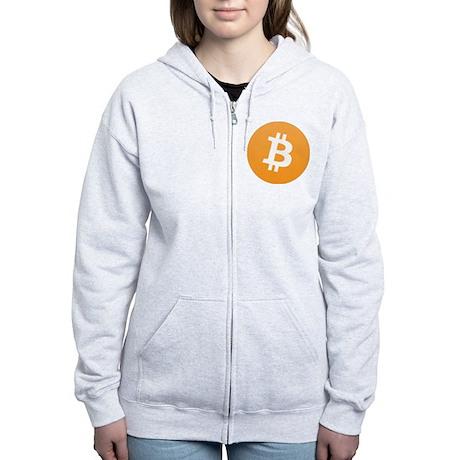 Bitcoin Logo Zip Hoodie