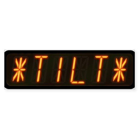 Pinball Machine *TILT* Alphanumeric Display Bumper
