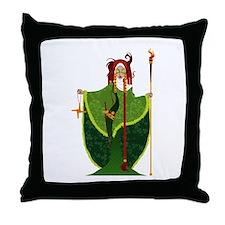 St. Brigid of Ireland Throw Pillow