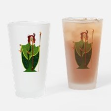 St. Brigid of Ireland Drinking Glass