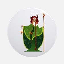 St. Brigid of Ireland Ornament (Round)