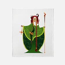 St. Brigid of Ireland Throw Blanket