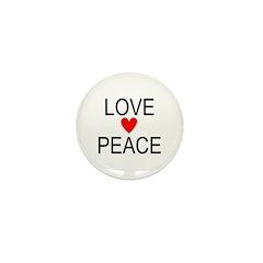 Love Peace Mini Button (10 pack)