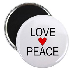Love Peace Magnet