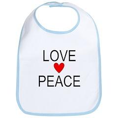 Love Peace Bib