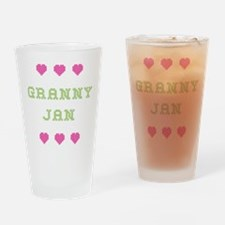 Granny Jan Drinking Glass