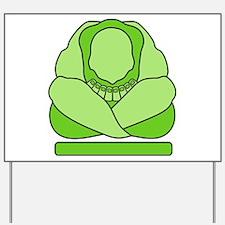 Weeping Buddha Yoga Yard Sign