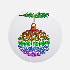 1 PRIDE ORNAMENT TEXTURED ON Ornament (Round)