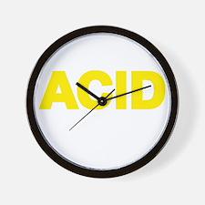 ACID YELLOW Wall Clock