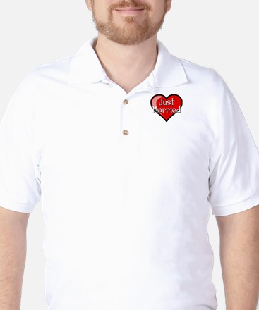 Just Married Golf Shirt