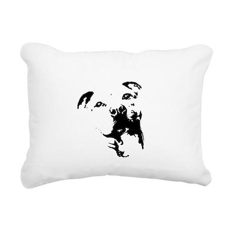 Pitbull Dog Rectangular Canvas Pillow