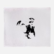 Pitbull Dog Throw Blanket