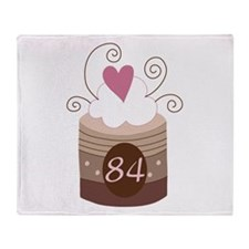 84th Birthday Cupcake Throw Blanket