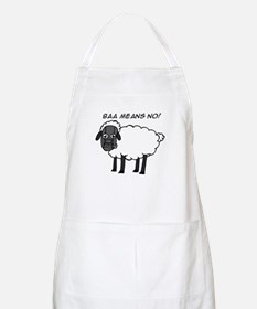 Baa Means No BBQ Apron