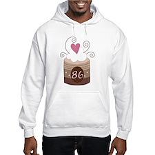 86th Birthday Cupcake Hoodie