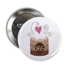 "86th Birthday Cupcake 2.25"" Button"
