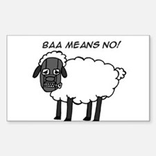 Baa Means No Rectangle Decal