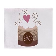 90th Birthday Cupcake Throw Blanket
