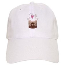90th Birthday Cupcake Baseball Cap