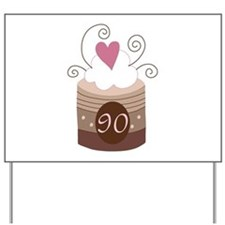 90th Birthday Cupcake Yard Sign