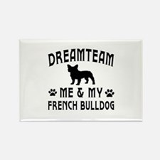 French Bulldog Dog Designs Rectangle Magnet