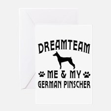 German Pinscher Dog Designs Greeting Card