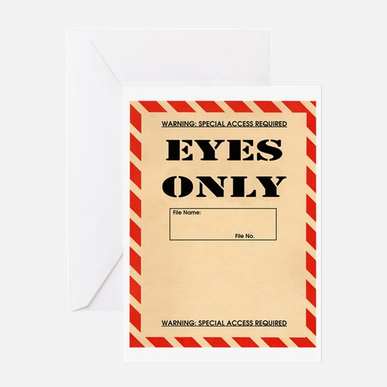 Eyes Only Greeting Card