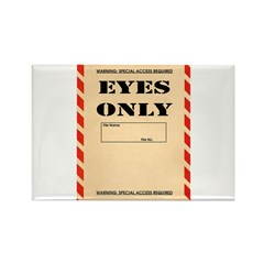 Eyes Only Rectangle Magnet (100 pack)