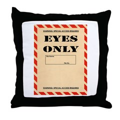 Eyes Only Throw Pillow