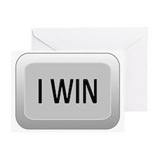 I Win Key PvP Greeting Card