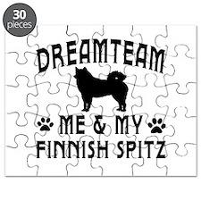 Finnish Spitz Dog Designs Puzzle