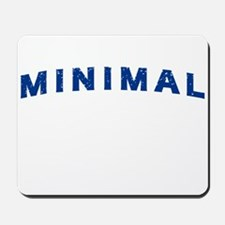 Minimal Damaged Blue Mousepad