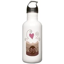99th Birthday Cupcake Water Bottle