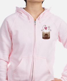 100th Birthday Cupcake Zip Hoodie