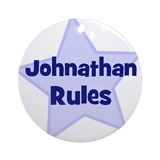 Johnathan Rules Ornament (Round)
