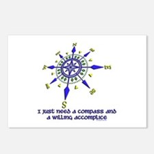 compass and willing accomplice-1-1 Postcards (Pack