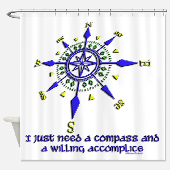 compass and willing accomplice-1-1 Shower Curtain