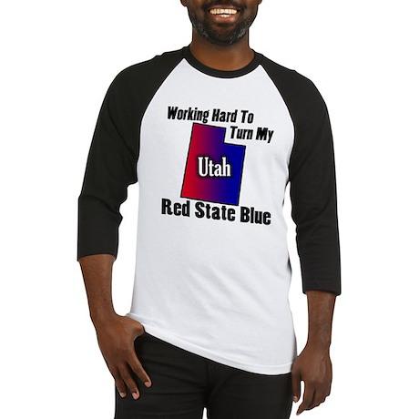 Utah Blue State Baseball Jersey