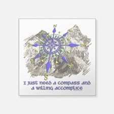 compass and willing accomplice-1-Mt Sticker