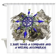 compass and willing accomplice-1-Mt Shower Curtain