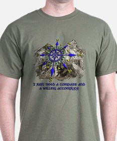 compass and willing accomplice-1-Mt T-Shirt