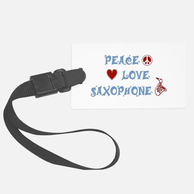 Saxophone Luggage Tag